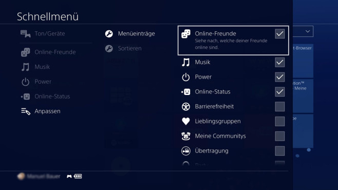 PS4: Firmware 4.0 © Sony