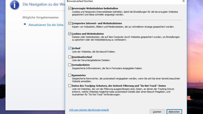 Browser-Cache leeren ©COMPUTER BILD
