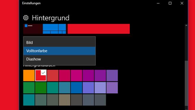 Einfarbiges Hintergrundbild ©COMPUTER BILD