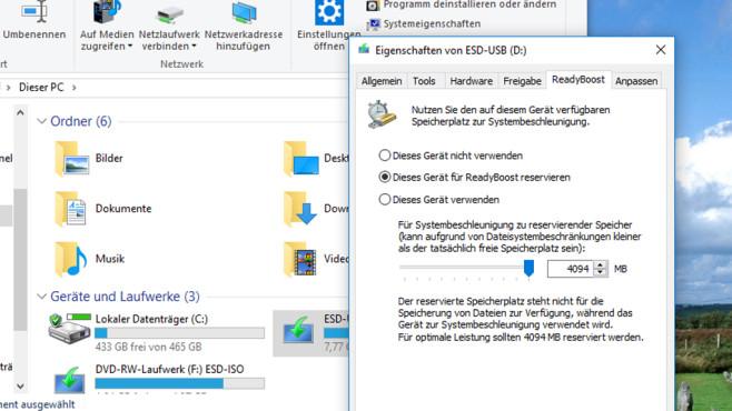 RAM aufstocken per USB-Stick ©COMPUTER BILD