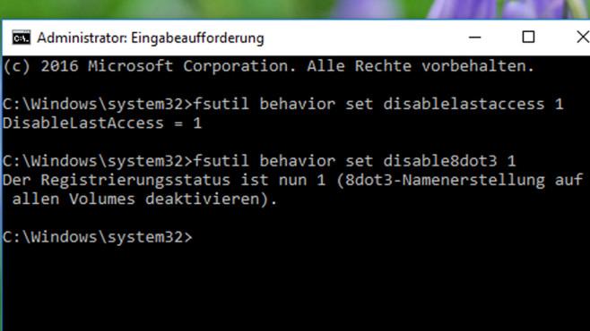Zugriffe und 8+3-Dateinamen nicht mehr vorhalten ©COMPUTER BILD