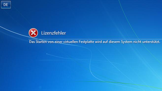 Hochfahr-Verbot f�r Windows 7 ©Microsoft