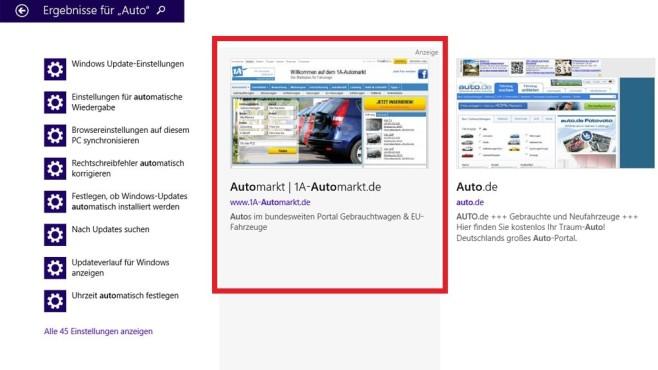 Werbung in Datei-Suchergebnissen ©COMPUTER BILD