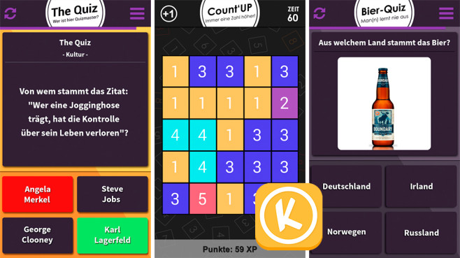 Kazong – Quiz & Puzzle Duell © Kazong Games