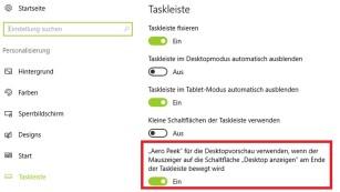 Windows 7/8/10: Taskleiste beschleunigen – schnellere Vorschauen Ab Windows 8 muss im entsprechenden Dialog ein zu setzender Haken stehen, bei Win7 in der Regel nicht. ©COMPUTER BILD