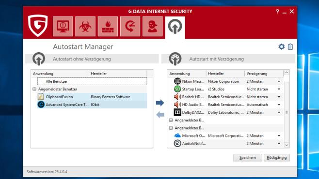 G Data Internet Security: Autostart-Eingriff ©COMPUTER BILD