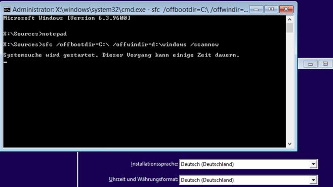 Systemdateien wiederherstellen, Fehlerüberprüfung ©COMPUTER BILD