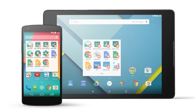 Android for Work auf Smartphone und Tablet ©Google