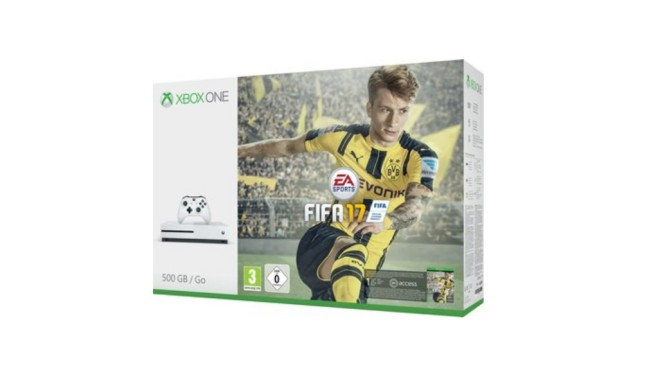 Microsoft Xbox One S 500GB inklusive FIFA 17 ©Media Markt