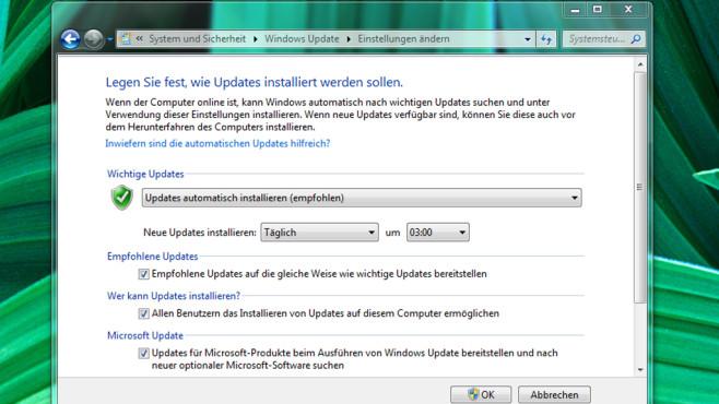Automatische Updates aktiv lassen ©COMPUTER BILD