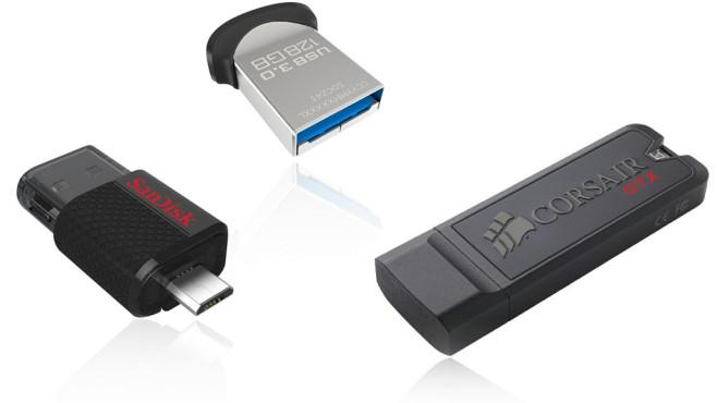 USB-Geräte direkt abziehen ©Sandisk, Corsair
