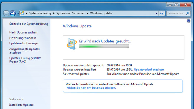 Windows-Updates installieren oder revidieren © COMPUTER BILD