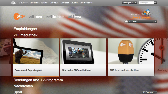 ZDF Mediathek ©ZDF.de