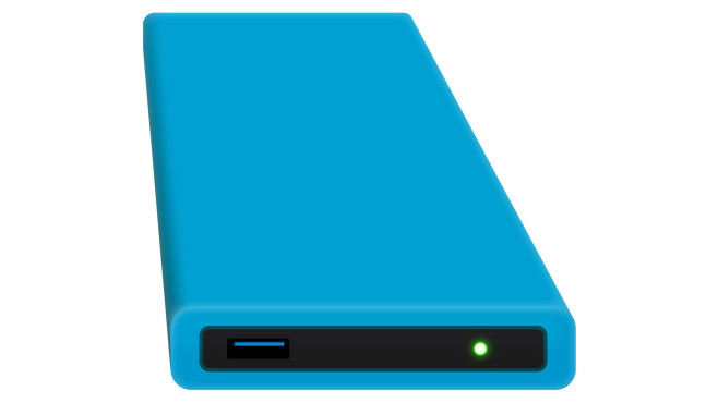 Digittrade HipDisk 1TB blau © Digittrade