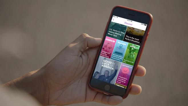 Apple iPhone mit der Snapchat-App ©Snapchat
