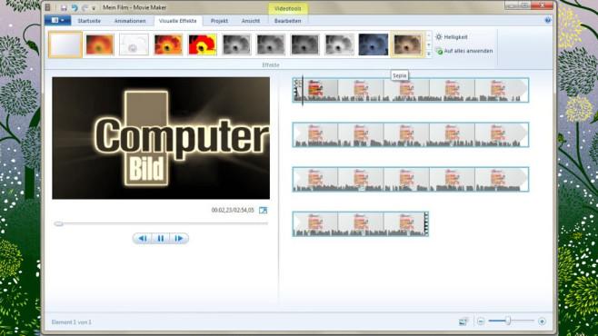 Platz 41: Windows Movie Maker (neu) ©COMPUTER BILD