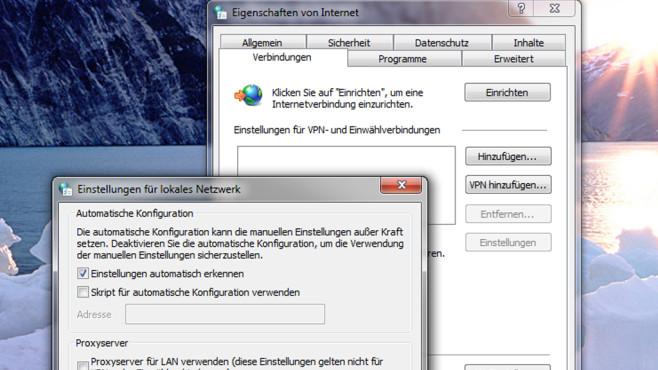 Proxy-Einstellungen von Windows ©COMPUTER BILD