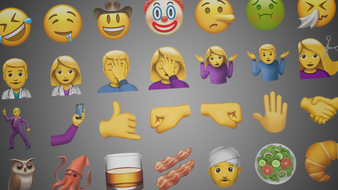 Neue Emoji für iOS 10.2 ©Apple, Emojipedia