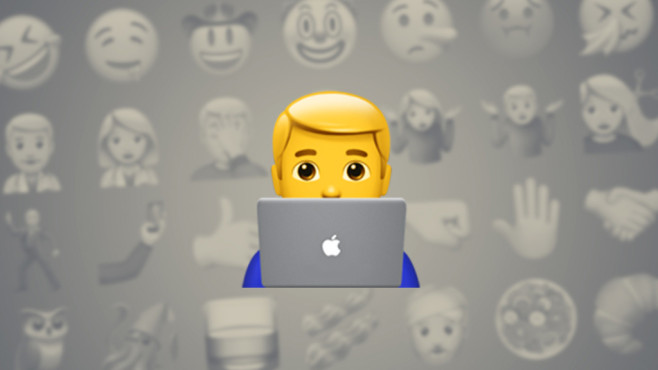 Mann am Laptop © Emojipedia