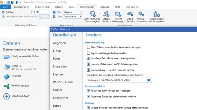WinZip: Dateien komprimieren und hochladen ©COMPUTER BILD
