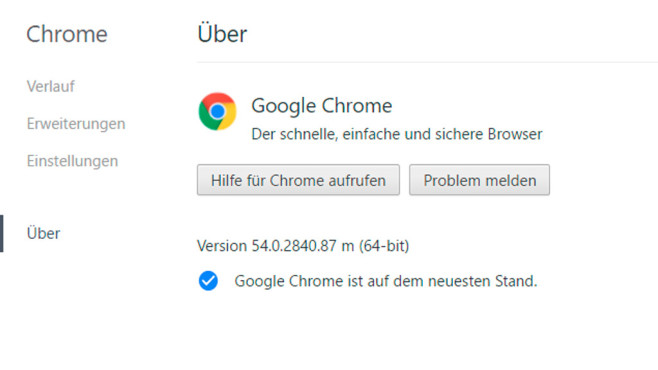 Chrome 64 Bit ©COMPUTER BILD