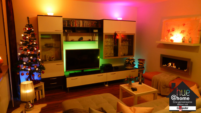 philips hue weihnachten in neuem licht computer bild. Black Bedroom Furniture Sets. Home Design Ideas