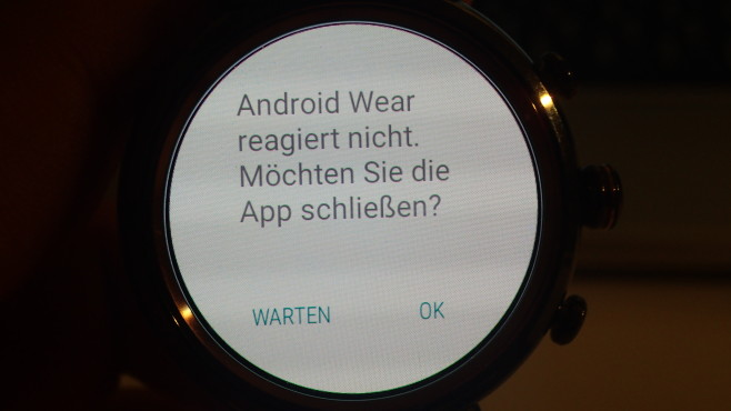 Asus Zenwatch 3: Crash © COMPUTER BILD