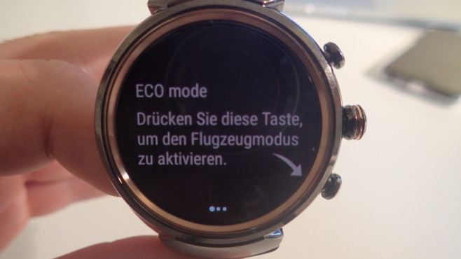 Asus Zenwatch 3: Eco Mode © COMPUTER BILD