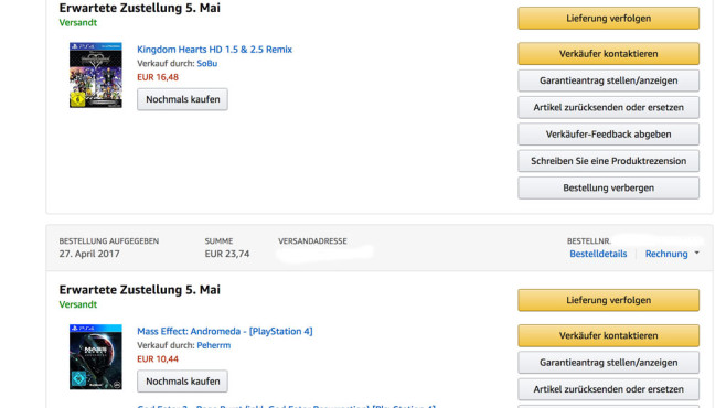 Amazon Bestellungen © COMPUTER BILD Screenshot: Amazon.de
