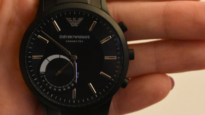 Ziffernblatt Armani Connected Watch ©COMPUTER BILD