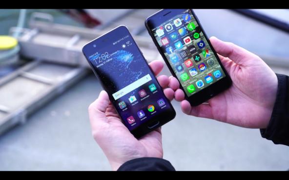 Huawei P10 im Test: Auf den Spuren von Apple Das P10 (links) und das iPhone 7 sind sich optisch sehr ähnlich. ©COMPUTER BILD