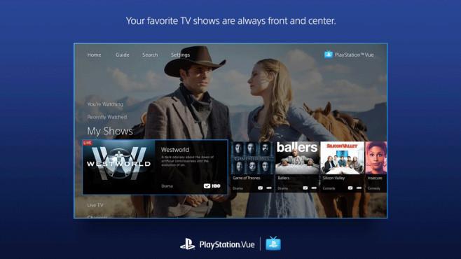 Sony veröffentlicht für die PlayStation Vue eine App für Apple TV ©Sony