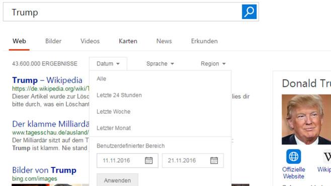 Eingrenzen von Suchergebnissen ©COMPUTER BILD