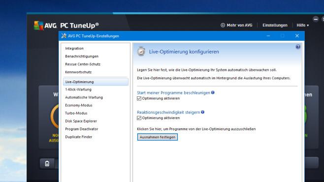 AVG PC TuneUp: Prozesse in Echtzeit optimieren ©COMPUTER BILD