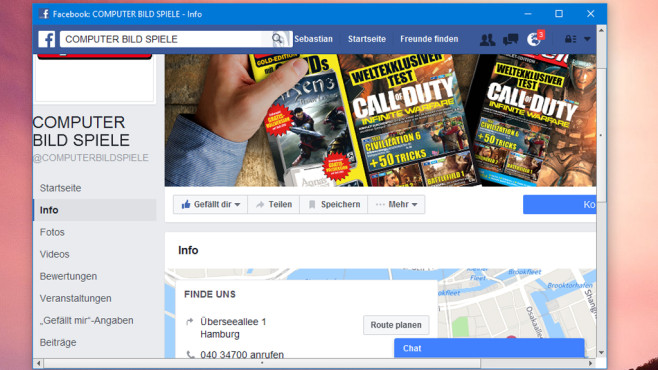 Facebook Desktop: Geschlossene Filterblase ©COMPUTER BILD