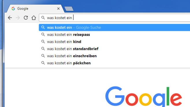 Google Chrome: Web- und Suchvorschläge ©COMPUTER BILD