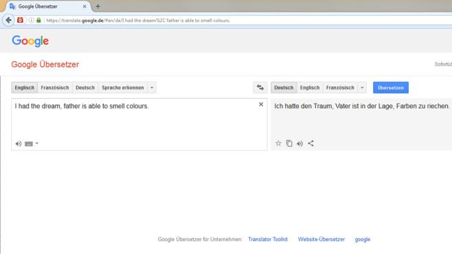 Google Übersetzer: Ganze Sätze dolmetschen ©COMPUTER BILD