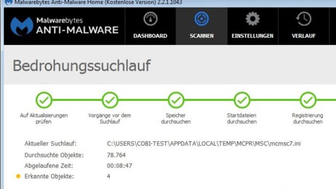Malwarebytes Anti-Malware: Virus-Identifikation per Verhaltens ©COMPUTER BILD