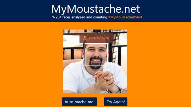 Microsoft MyMoustache.net: Bärte bewerten ©COMPUTER BILD