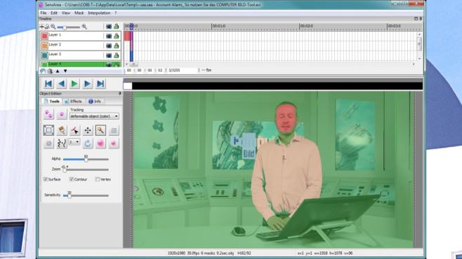 SensArea: Objekt im ganzen Video verändern ©COMPUTER BILD