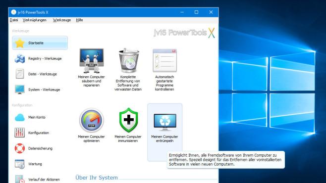 jv16 PowerTools X: Alle Programme hintereinander entfernen ©COMPUTER BILD