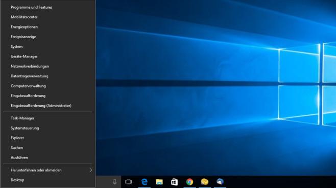 Windows-X-Mini-Startmenü ©COMPUTER BILD