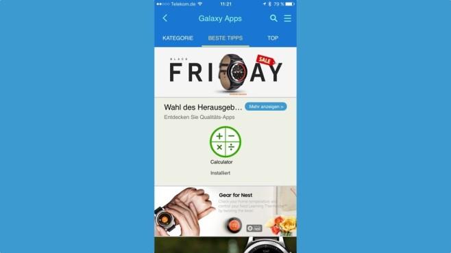 Installieren von Gear-Apps per iPhone ©COMPUTER BILD