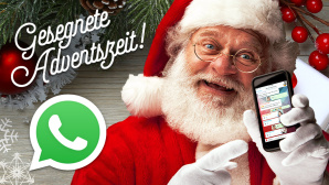 Frohe Weihnachten per WhatsApp © WhatApp, ©istock.com/inhauscreative, MK-Photo – Fotolia.com