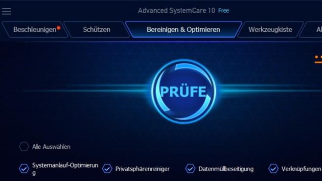 Platz 35: Advanced SystemCare Free (neu) ©COMPUTER BILD