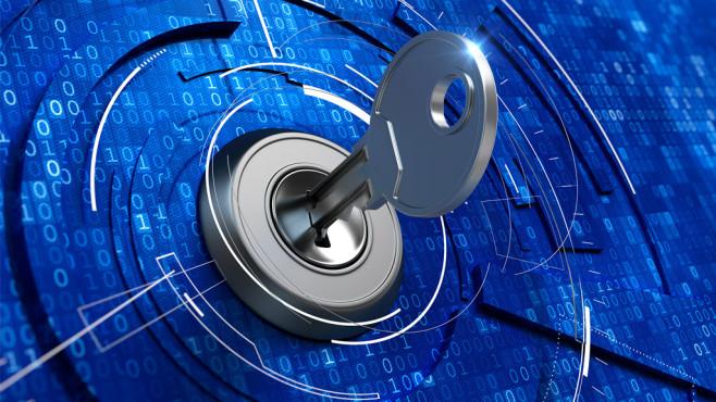 Windows 7/8/10: WLAN-Passwort anzeigen und ändern Zusatz-Software muss nicht sein: Allenfalls in Ausnahmefällen brauchen Nutzer diese, wollen sie ihren WLAN-Code ermitteln. ©Fotolia--Sashkin-Digital security concept - key in keyhole