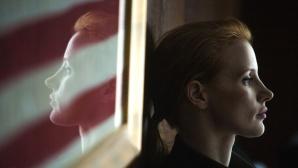 Jessica Chastain spiegelt sich ©Jonathan Olley/ZDF