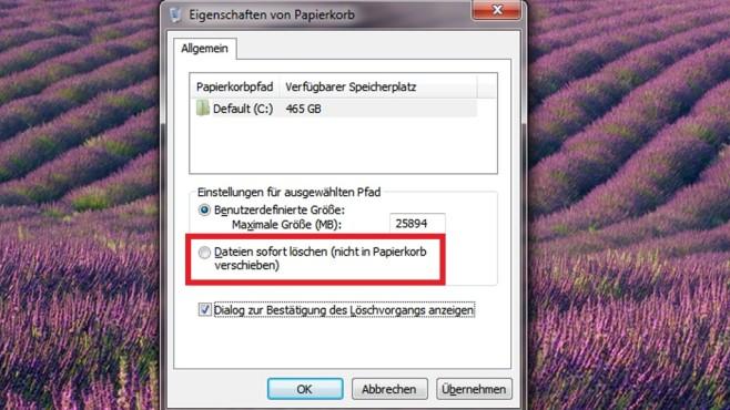 Dateien ohne Umweg entfernen ©COMPUTER BILD