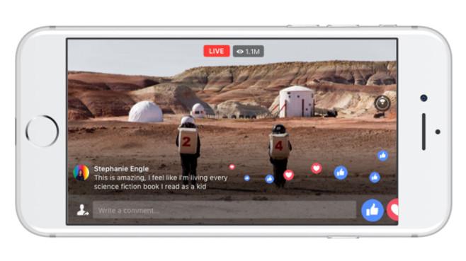 Facebook startet 360-Grad-Videos jetzt auch für sein Live-Video-Feature ©Facebook
