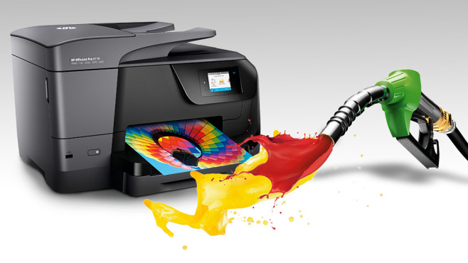 Drucker mit Farbe ©HP, ©istock.com/phive2015